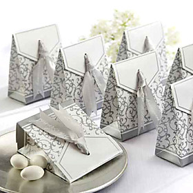 Favor Box with Silver Ribbon(set of 12)