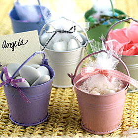 Metal Favor Pail - Set of 12 (More Colors)