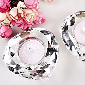 Crystal Diamond-Shaped Candle Favor