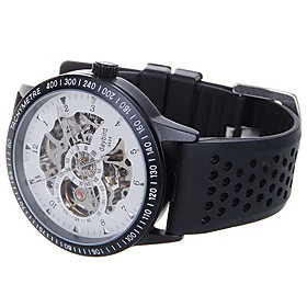 DayBird Stainless Steel Self-Winding Mechanical Wristwatch - Black   White