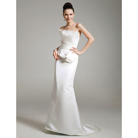 Satin Trumpet/ Mermaid Strapless Sweep/ Brush Train Evening Dress inspired by Kate Hudson at Golden Globe