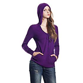 Scoopneck Cashmere Hoodie (5 colors)