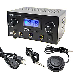 Dual Output Digital LCD Tattoo Power Supply