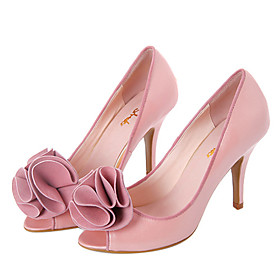 Top Quality Real Leather Upper High Heels Peep-toes With Flower Special Occasion Shoe/ Fashion Shoe (0985-K968)