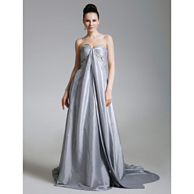 Taffeta A-line Sweetheart Court Train Evening Dress inspired by Dianna Agron at Golden Globe