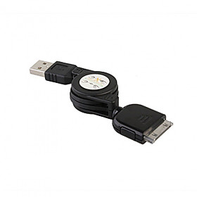 Retractable USB Data   Charging Cable for All iPod/iPhone (70CM-Cable)