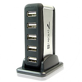 Vertical Tower 7 Port USB 2.0 Hub
