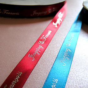 Personalized 1-Inch Double Faced Satin Ribbon (2 rolls)