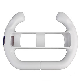 Racing Steering Wheel Controller for Wii/Wii U (White)