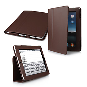 2-in-1 Protective PU Leather Carry Case  Movie Stand for Apple iPad (Brown)