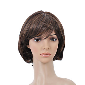 Capless Short High Quality Synthetic Golden Brown Bob Hair Wig 0463-477