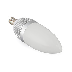 3W LED Light Bulb - Candle Shape Design (E14 Bulb Base)