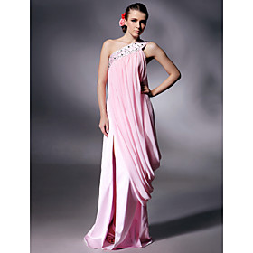 Chiffon Elastic Silk-like Satin Column Floor-length Evening Dress inspired by Kate Beckinsale at Cannes Film Festival