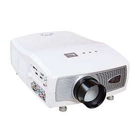 1080P 1800lm LCD Projector 800 600 for Home Theater DVD TV Laptop (HD198)