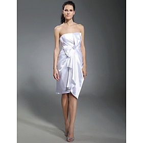 Stretch Satin Sheath/ Column Strapless Knee-length Cocktail Dress inspired by Kristen Bell at Golden Globe