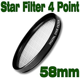 Emolux 58mm Star 4 Point Filter(SQM6019)