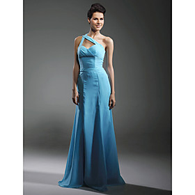 Chiffon Elastic Woven Satin Column Floor-length Evening Dress inspired by Cynthia Nixon in Sex and the City