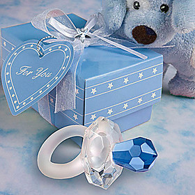 Crystal Pacifier Favors (Blue or Pink)