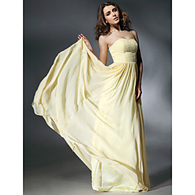 Chiffon Matte Satin A-line Sweetheart Evening Dress inspired by Jennifer Love Hewitt at Emmy Awards