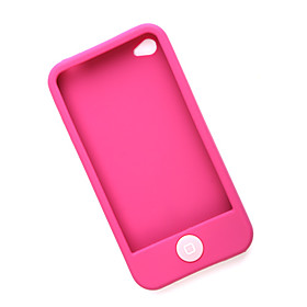 Protective Silicone Case for iPhone 4 (Pink)