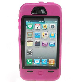 Extra Tough Protective Impact Housing Case   LCD Screen Protector for iPhone 4 (Pink)