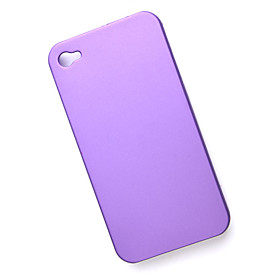 Protective Plastic Case for iPhone 4 (Purple)