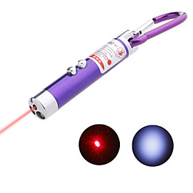 2-in-1 Mini Laser with LED Flashlight Keychain(Color Assorted)