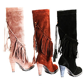 High Heeled Boots w. Tassel