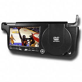 7 Inch Left/Right Side Sun Visor Car DVD Player with FM Transimitter TV