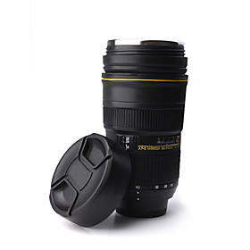 Unique Simulation Nikon Camera Lens Style 300ml Stainless Steel Thermos Mug Cup