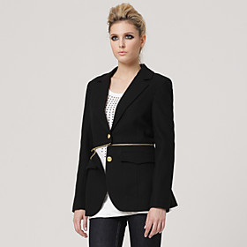 Removeable Middle Style Lapel Long Sleeves Coat / Women's Coats (FF-B-BJ1055001)