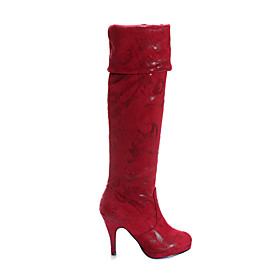 Suede High Heeled Boots