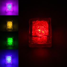 Ice Cube Shaped Colorful Flashing LED Light