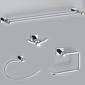 EleganceSolid Brass 4-piece Bathroom Accessory Set B(0605-0401 0407 0405 0411)