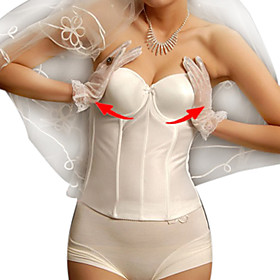 Cotton Detachable Straps Corsets Wedding/ Special Occasion Shapewear plus size,  plus size fashion plus size appare 