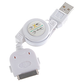 Retractable USB Charging Cable for iPod/iPhone 3G/3GS