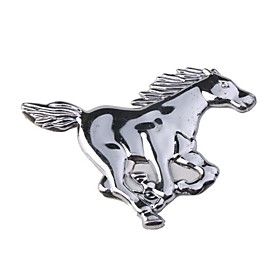 HL-6011 Car Chrome Emblem Badge Sticker - Horse Stlyle