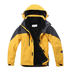 Men Yellow Ultimate Warm Windstopper Breathable Parkas with Ski Jackets Inside