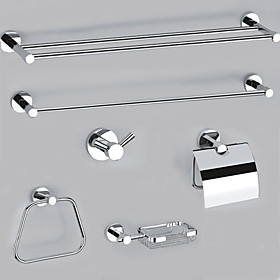Elegance Bright Nickel 6-piece Bathroom Accessory Set(0605-0507 0501 0505 0511 0510 0506)