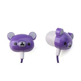 Cartoon Bear Image Earbud