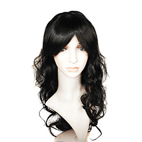 Capless Long High Quality Synthetic Black European Weave Hair Wig