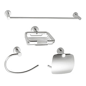 Aluminum 4-piece Bathroom Accessory Set (1041-LES-6501 6507 6508 6509)