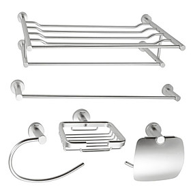 Aluminum 5-piece Bathroom Accessory Set (1041-LES-6500 6501 6507 6508 6509)