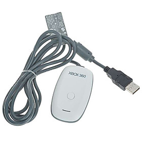 Xbox 360 Wireless Control Gaming Receiver for PC (White   Grey)