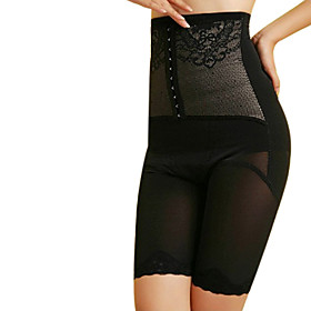 Chinlon High Waist Front Busk Closure Shaper Briefs Daily Wear Shapewear More Colors Available