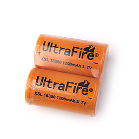18350 3.7V 1200mAh XSL18350 UltraFire Battery (2-Pack)