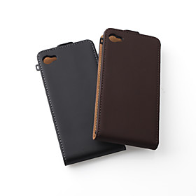 Italian Fashion Trend Leather Case For iPhone 4 - Pack of 2pcs, Black Brown Assorted