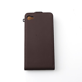Italian Fashion Trend Leather Case For iPhone 4 - Brown