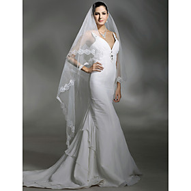 1 Layer Cathedral Length Wedding Veil (TS071)