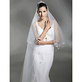 1 Layer Cathedral Length Wedding Veil (TS050)500cm Length